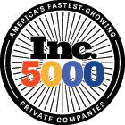 Inc. 5000 fastest growing companies badge